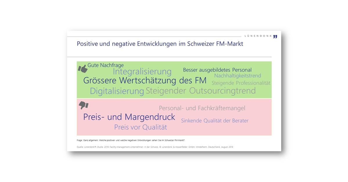 Positive und negative Entwicklungen im Schweizer FM-Markt