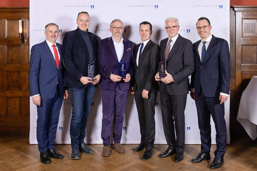 Jörg Hossenfelder, Mathias Entenmann (BCG Digital Ventures), Klaus Baumgärtner (BridgingIT), Jonas Lünendonk, Dr. Winfried Materna und Mario Zillmann (Lünendonk & Hossenfelder).