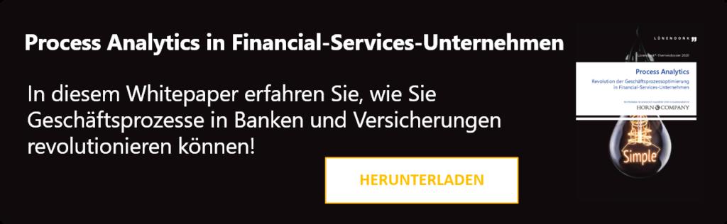 Lünendonk-Themendossier 2020 Process Analytics Revolution der Geschäftsprozessoptimierung in Financial-Services-Unternehmen