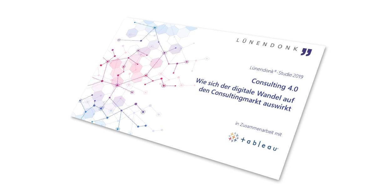 """Lünendonk-Studie """"Consulting 4.0: Wie sich der digitale Wandel auf den Consultingmarkt"""